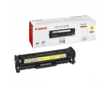 Картридж Canon 718 YELLOW для Canon MF85xx/724 (2900стр,)